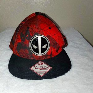 NWT Marvel Deadpool Original Snapback Hat Red/Blk